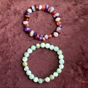 Jewelry - Multi-Stone Bracelet and Green Agate Bracelet
